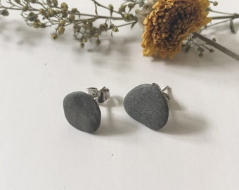 Stone Stud Earrings, Medium  - Lake Dubay