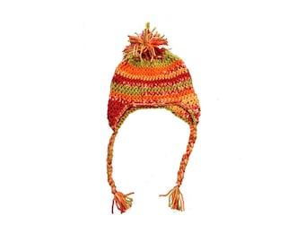 Infant Ear Flap Hat- crochet