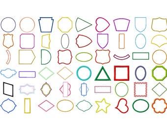 54 Applique Border Machine Embroidery Designs, Applique Frame, Applique Design, Monogram Frame, Wedding Patch, Crest, INSTANT DOWNLOAD