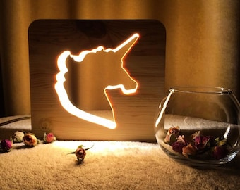 Night light for children Unicorn. Bedroom lamp for baby room. Nursery projector. Table lamp for kids. Nightlighs. Bedside lamp. Night stand