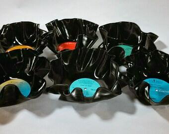 Set of Six Vinyl Record Bowls