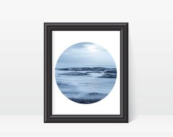 Calming Water Scene Art Print, Digital Download, Instantly Print, Zen Wall Art