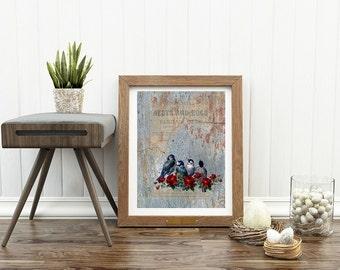 Little Birds - Instant download, printable art
