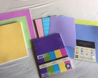 LOTS of patterned cardstock! over 150 sheets of Doodlebug and Sherbet paper!