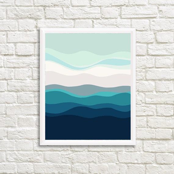 Printable Wall Art, Wall Art, blue Print, Minimalist Print, Modern Home Decor, Minimalist Art, ocean Blue,  Downloadable Art