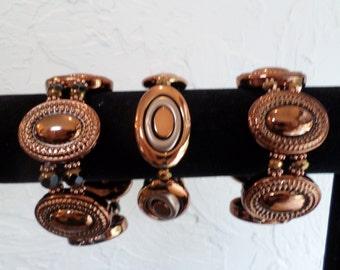 Acyrlic Coppertone Stretch Bracelet