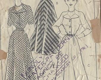 "1940s Vintage Sewing Pattern B36"" DRESS (R436)"