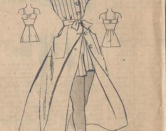 1940s Vintage Sewing Pattern B32 Skirt , Blouse, Shorts , Bra (R720) MARIAN MARTIN 9366