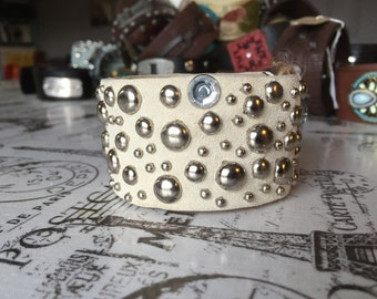 Cream cuff bracelet-half off