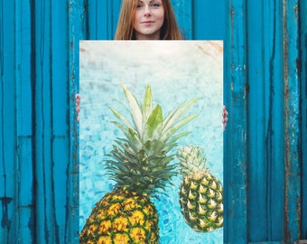 Pineapple Paradise Enhanced Matte Paper Poster