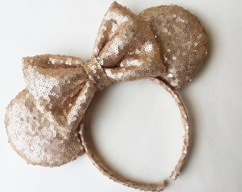 Champagne Gold Sequin Mouse Ears