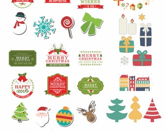 Christmas Stickers,Christmas Decoration,Digital Planner,ECLP Planner,Holliday Stickers,Instant Download,Planner Stickers,Printable Stickers