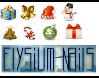 Christmas Decal Set - Set of 8 (2)