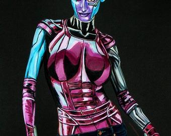Nebula Bodypaint 8.5x11 Print