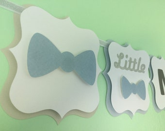 "Gender Reveal ""Little Man or Little Miss?"" Banner"