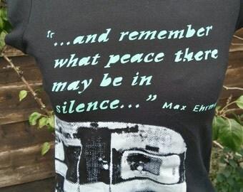 Black women's printed T-shirt