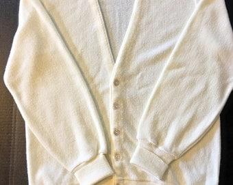 Vintage Jantzen 1980s cream/off-white Medium cardigan Made in USA