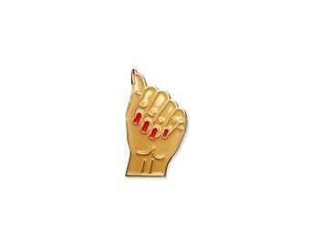 Manicure Enamel Lapel Pin