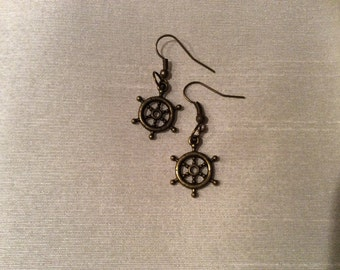 Nautical Themed Hook Earrings