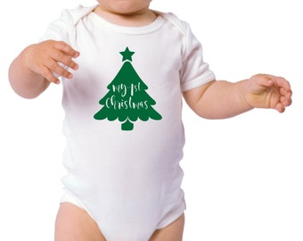 Christmas Tree Cut File for Cricut or Silhouette svg, dxf, jpg, pdf Vinyl Decal, My First Christmas, 1st Christmas, Baby's 1st Christmas