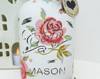 Handmade Emma Bridgewater Mason Jar Rose and Bee