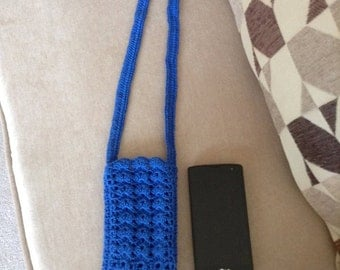 hand-crocheted sling pouch