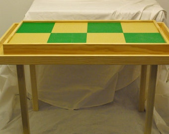 Lego table with storage trough. Solid wood, custom sizes are available