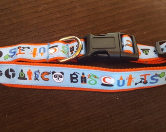 Disco Biscuit Dog Collars