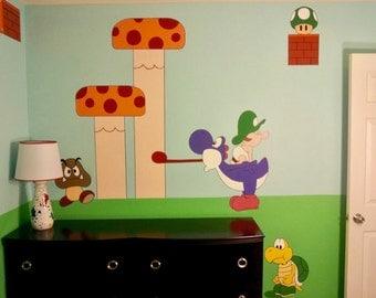 Baby Mario, Luigi, Yoshi, Shy guy, princess Peach theme room