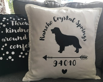 Custom Dog Arrow Pillow
