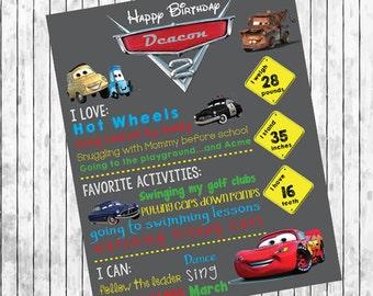 Cars Birthday Board