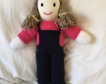Hand Knitted Vintage Style Doll: Abbey