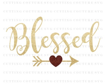 Thanksgiving Svg Cutting File Blessed Svg Fall Svg Cutting File Silhouette Cutting File Cricut Cutting File SVG DXF PNG Files Included
