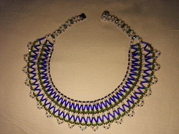 Swarovski Crystal Collar Necklace w/ Silver Plated Clasp