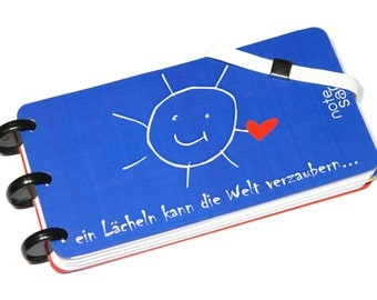 "Notebook, ""Note Safe"", Notizblock, Memo, Notepad, Discbound, Handmade (PIC-017)"