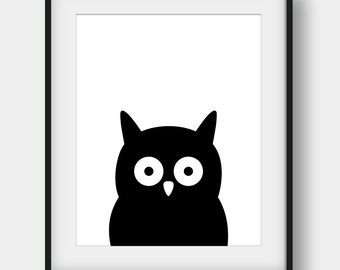 60% OFF Owl Print, Scandinavian Print, Nursery Wall Art, Kids Room Decor, Nursery Owl Poster, Black Owl Print, Printable Art, Minimalist Art