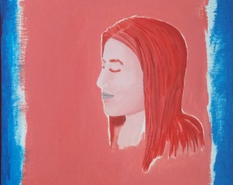Seeing Red/Acrylic painting