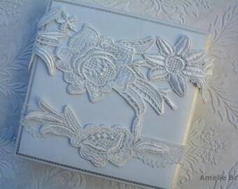 Bridal Garter Off White, Wedding Garter, Wedding Garter Set, Garter Belt, White Wedding, Natural White Garter, Wedding Gift