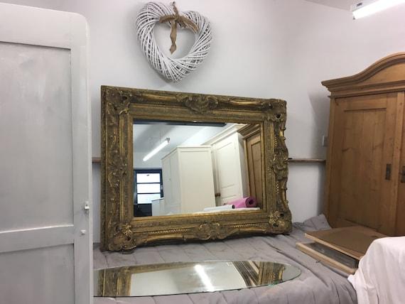 Very Large antique gilt framed mirror