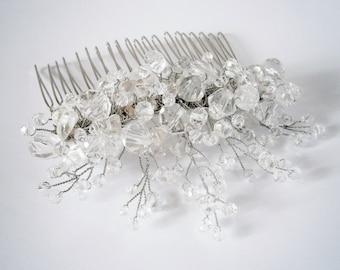 Bridal hair comb White bridal hair comb Wedding hair comb Bridal hair comb White wedding hair comb Hair accessories Wedding hair accessories