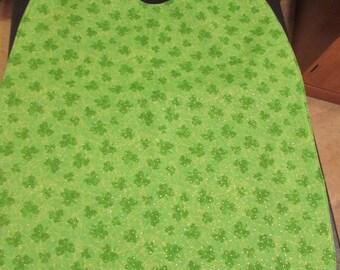 Large Adult Clothing Protector Bib with Shamrocks ( # 589)