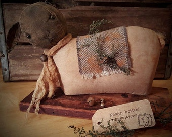 ePattern~Primitive Spring Lamb, Sheep Sitter PDF File, Sewing Pattern, Instant Download