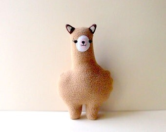 Alpaca Plush Toy, SMALL Alpaca toy, Alpaca soft toy, Llama toy, Nursery toy, baby toy, cot toy, MINI Alpaca Friend - BEIGE Alpaca
