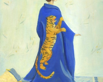 Tiger Kimono Print 8x10
