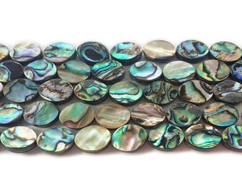 Abalone Shell Double Sided Oval Beads