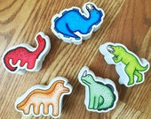 Dinosaur Stickers 1st Edition, Vinyl Stickers, Set of 5, Matte Finish, Sticker Art, Kids Stickers, Cute Stickers, Labels, Outdoor Stickers