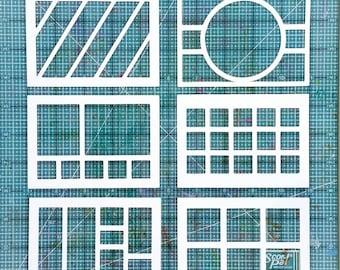 "5x7"" cuttable file, scrapbooking or cardmaking layout, stencil sketches, SVG cutting file, digital die cut, Pazzles, Cricut, Silhouette, JPG"