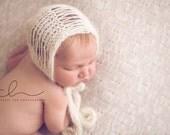 Knit Pattern Baby Bonnet Newborn Hat