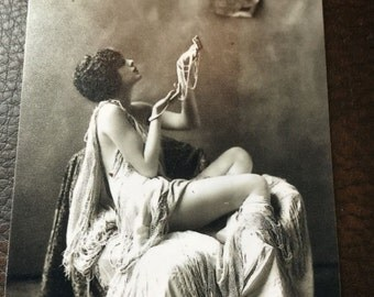 Ziegfeld Alfred Cheney Johnston Girl Tintype C094NP