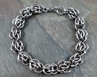 Chainmaille Bracelet - Steel Chainmaille - Sweetpea Bracelet - Stainless Steel - Chainmail Bracelet - Chainmaille Jewelry